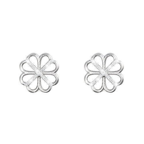 Stroili - Orecchini fiore in ottone rodiato e glitter per Donna - Paris