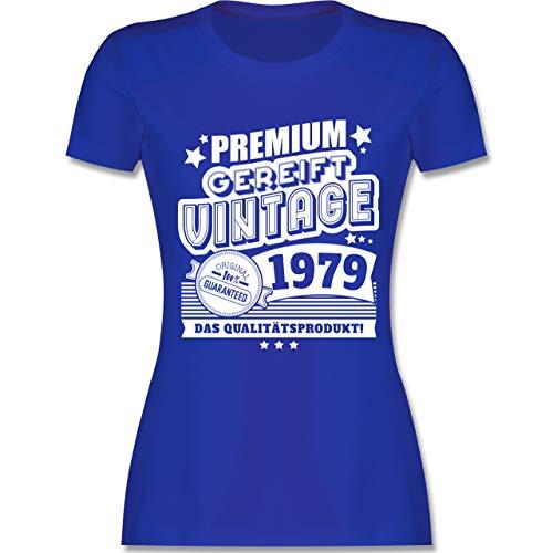 Geburtstag - Premium gereift Vintage 1979 40. Geburtstag - S - Royalblau - L191 - Damen Tshirt und Frauen T-Shirt
