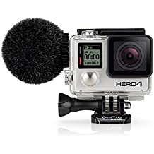 Sennheiser MKE 2 Elements - Micrófono y cortavientos para GoPro Hero 4, color negro