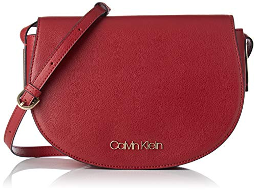 Calvin Klein Jeans Damen Frame Med Saddle Bag Umhängetasche, Rot (Red Rock), 7x20x29 cm