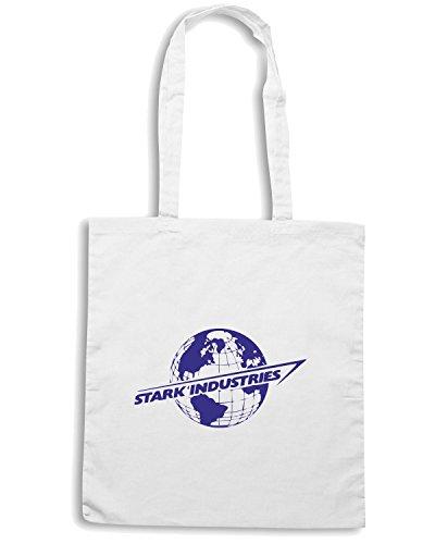 T-Shirtshock - Borsa Shopping TF0014 inspired by stark Bianco