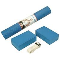 Sunny Health & Fitness Unisex Adult NO. 040 Yoga Set - Blue, One Size