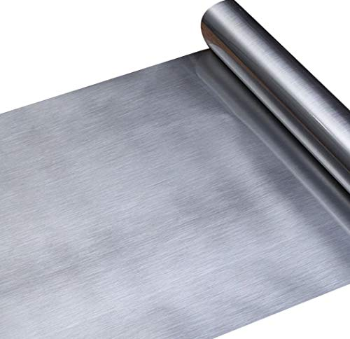 Papel adhesivo aspecto metal plateado acero inoxidable