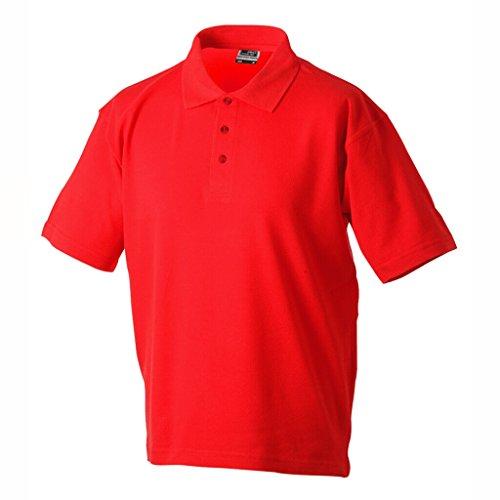JAMES & NICHOLSON Klassisches Polohemd für Freizeit und Sport Red