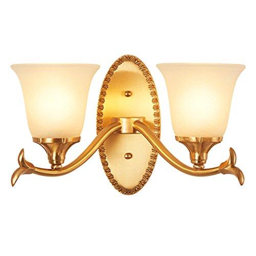 Wandleuchten benutzt, um Wohnzimmer-Balkon-Korridor-Gang-Schlafzimmer-Bett-Kopf-einzelne Kopf-moderne einfache kupferne kreative LED-Lampe zu verzieren ( Farbe : B )