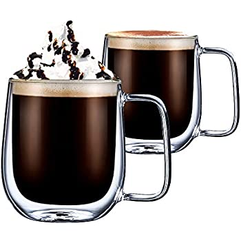 845816172c5 Double Wall Coffee Glasses Cups-cmxing Insulated Transparent Thermo Coffee  Mugs Cups for Espresso Cappuccino Latte (300ml)