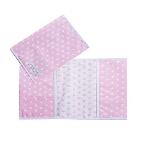 Mutterpass-Hülle rosa mit weißen Sternen