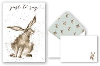 """Wrendale Grußkarten und Briefumschläge, Aufschrift """"Just to Say"""",Hasen-Design"""