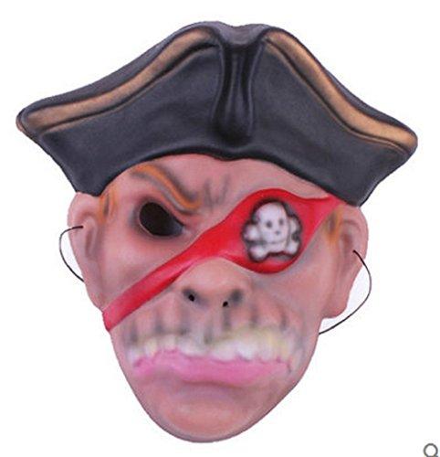 Maske für Kostüm - Verkleidung - Karneval - Halloween - Pirat - Seeräuber der Meere - Karibik - Multicolor - Kind (Piraten Kostüme Ideen)