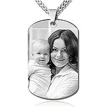 JF Colgante conmemorativo personalizado de plata de ley grabado para familiares, amigos y amantes,