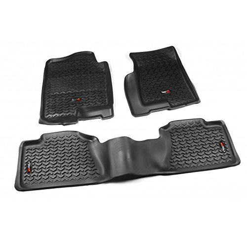 rugged-ridge-all-terrain-black-front-and-rear-floor-liner-kit-for-select-cadillac-escalade-chevrolet