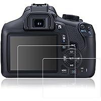 Films de Protection d'Ecran pour Canon Eos 1300D Rebel T6 Kiss X80, AFUNTA Lot de 2 Protecteurs Imperméables en Verre Trempé Optique pour Caméra Digital DSLR
