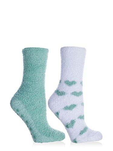 Anti-Rutsch-Socken aus Chenille, mit Lavendel angereichert, flauschig und warm, für Damen/Mädchen, Einheitsgröße, Damen, salbeigrün, One Size Fits Most (Chenille-socken Für Frauen)