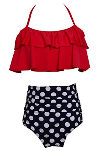 Fanvans Damen Hohe Taille Bikini Schulterfreien Floral 2 Stück Badeanzug glaubwürdigkeit 104