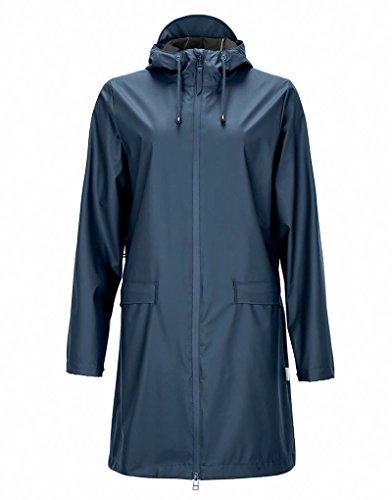 Rains Women's W Women's Dark Teal Rain Jacket Blue