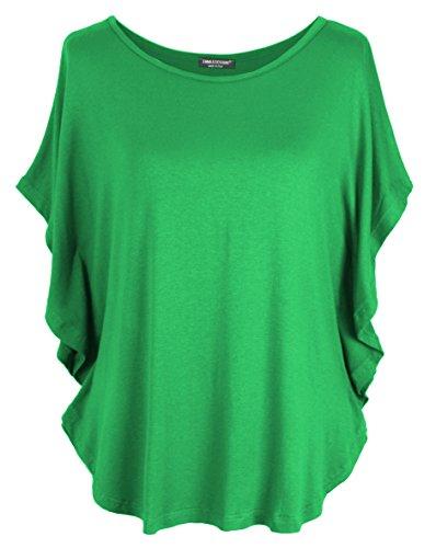 Emma & Giovanni T-Shirt/Oberteile Kurzarm - Damen (Grün, XL/XXL)