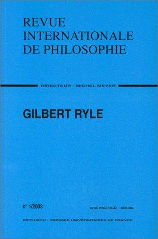 Revue internationale de philosophie, numro 223 - 2003 : Gilbert Ryle
