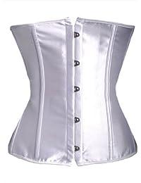 Superbe corset en satin blanc sous la poitrine, par la lingerie Aimerfeel, S-6XL