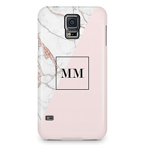 110e8bb179a18 Personalized Rose Gold Pink Marble Initials Name Letters Custom  Customizable Personal Schutzhülle aus Hartplastik Handy Hülle für Samsung  Galaxy S5 ...