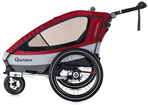 Qeridoo Sportrex1 Kinder-Fahrradanhänger 2018 Limited rot