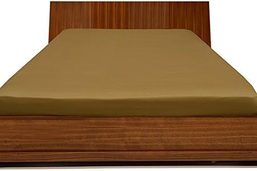 RoyalLinens 800TC 100% Cotone Egiziano di Alta qualità Elegante Elegante Elegante Finitura 1PCS Lenzuolo con Angoli Tinta Unita Tasca (Dimensioni  30,5 cm), Cotone, oro Solid, EU_King_Ikea 68184e