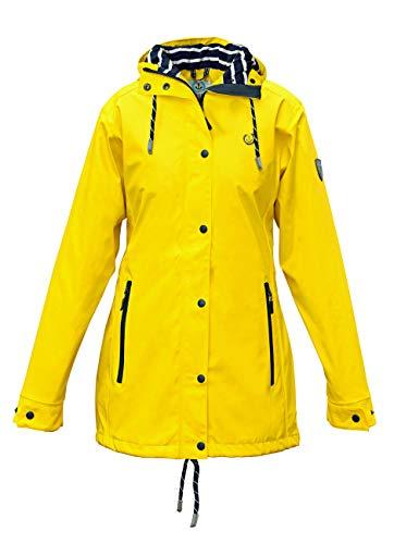 MADSea Damen Regenmantel Friesennerz gelb wasserdicht, Farbe:gelb, Größe:46