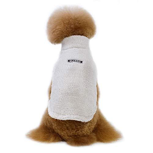 Etophigh Haustier Winter Volltonfarbe Kostüm Korallen Samt Mantel für kleine mittelgroße Hunde, Doggy Zwei Fuß Hoodies für Teddy Puppy Dicker Pullover