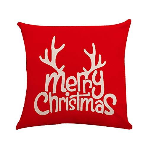 Amphia Art Magisch Hirsch Geweih Blühen Weihnachts Kissen deckt Stickerei Werfen Kissen Koffer für den heimwagen dekorative (viele Größen und Farben) -