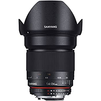 Samyang SAM24SONY Objectif 24 mm F1,4 pour Sony A Noir