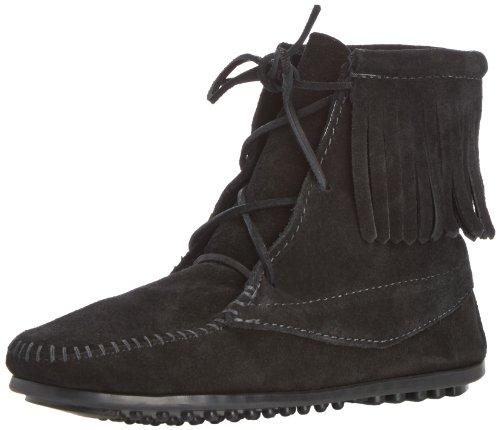 Minnetonka Ankle Hi Tramper Boot, Unisex-Kinder Stiefel, Schwarz, 28 EU (Ankle Boot Hi)