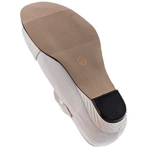 Weisser Mädchen Schuh, 4 Varianten #625 Weiss mit Steinchen