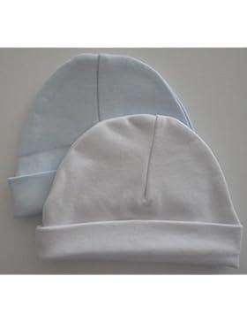 Confezione da 2tazze Soft Touch o neonato nascita per bambino, in cotone, colore: blu e bianco 0–3mesi