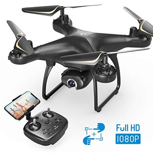 SNAPTAIN SP650 Drone avec Caméra 1080P Full HD 120° Grand Angle Réglable, WiFi Transmission en Temps Réel ,Contrôle Gestuel, Vol de Trajectoire, 360°Flips, Mode sans Tête, et Maintien de l'altitude