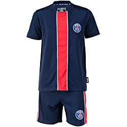 PARIS SAINT GERMAIN Maillot + Short PSG - Collection Officielle Taille Enfant 14 Ans