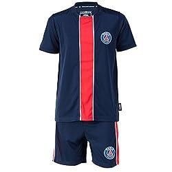 PARIS SAINT GERMAIN Trikot + Shorts PSG, offizielle Kollektion, Kindergröße für 4-Jährige blau