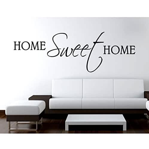 Adesivo Murale Wall Stickers Frase Citazione Adesivi Murali Decorazione interni Wall stickers Frase Home Sweet Home - Misura 80 x 26 CM