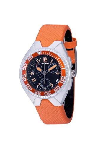 Sector r3251985525–Orologio Analogico al quarzo per donna con cinturino di plastica, colore: arancione