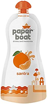 Paper Boat Santra, Orange Fruit Juice, No Added Preservatives and Colours (Pack of 6, 200ml each)