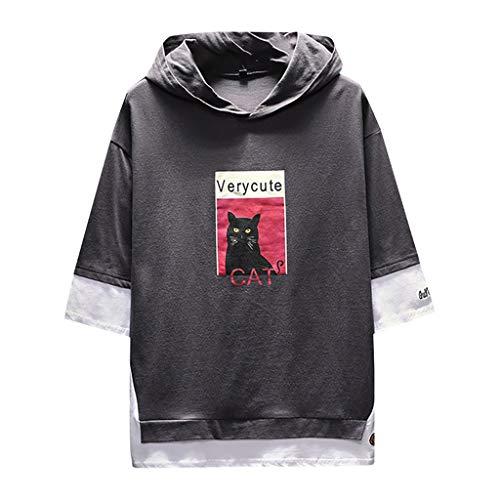 Herren Sweatshirt T Shirt mit Kapuzen Unisex Hoodie Teen Hip Hop Kapuzenpullover Männer Lose Jacke Pullover Langarm Hemd Langarmshirt Hoodies Hooded Longsleeve Club Crew Top Shirts -