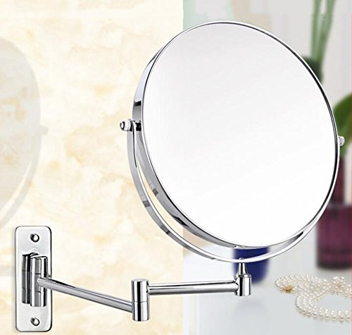 DADAO Doppel-Spiegel Badezimmer Spiegel Teleskop Kupfer Make-up Spiegel abgeschrägte Wandspiegel 8inch B -