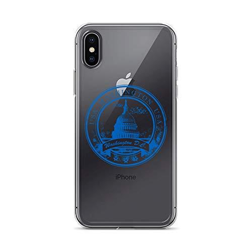 blitzversand Handyhülle Washington DC kompatibel für LG K10 Blue Logo State Schutz Hülle Case Bumper transparent rund um Schutz M8 -