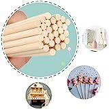 LINGLAN - Bastoncini per legno fai da te in bambù, diffusori di olio in rattan, confezione da 50 (20 cm/5 mm)