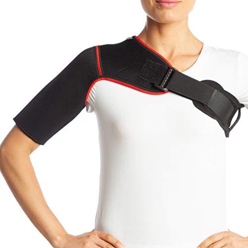 Corrector de postura para hombro, de neopreno - para lesiones por dislocación de hombro - correa de artritis - dolor de espalda lumbar cinturón - para gimnasio, deporte - negro