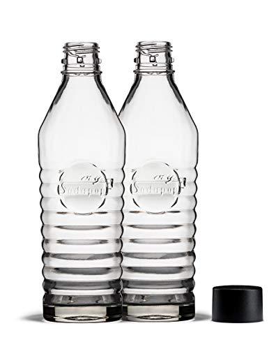 mySodapop A252213 Glaskaraffe 850ml, Glas, Klar, 2 Flaschen