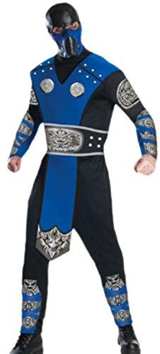 erdbeerloft - Herren Mortal Kombat Gaming Kämpfer Karneval Faschingskostüm, L, Mehrfarbig