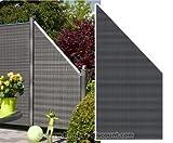 Sichtschutz Polyrattan Geflecht Abschluss anthrazit, 178 x 88cm - Sichtschutz, Sichtschutz Elemente, Sichtschutzwand, Windschutz
