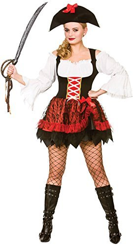 Adult Female Charming Pirate Fancy Dress Costume (Women: 14-16) by Wicked Wicked