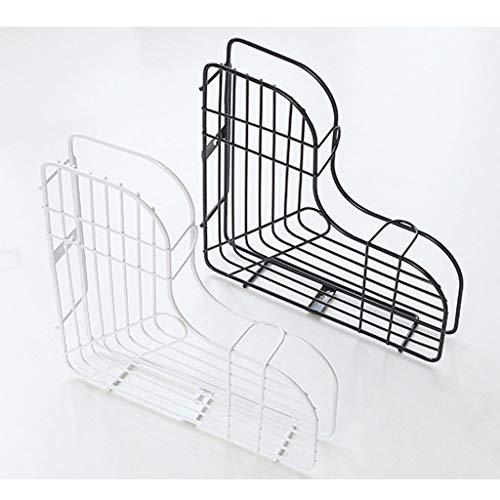 Lagerregal Regal, Stromlinienförmiges Gitter Platz sparen Saugwand Eisen Für Küche lagerung Badezimmer Lagerung-Weiß -