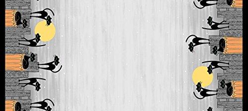 Michael Miller Halloween Stoff Grenze–Halloween Katzen Doppelte Bordüre–Baumwolle von 60cm–mm569–von 100% Baumwolle