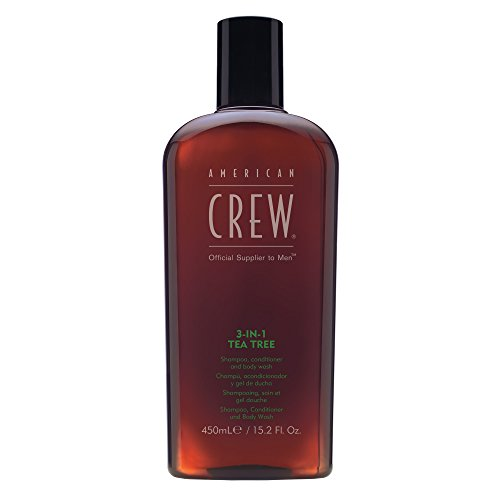 American Crew Balsamo, Tea Tree 3 in 1, Conditioner e Body Wash, 450 ml